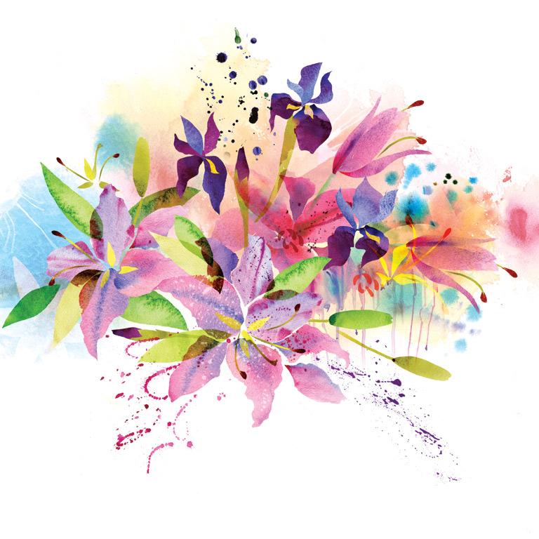 Красивые цветы рисованные картинки