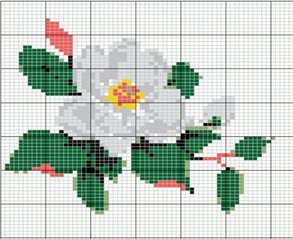 Картинки цветы для вышивания 8