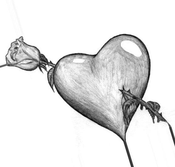 картинки про любовь грустные карандашом