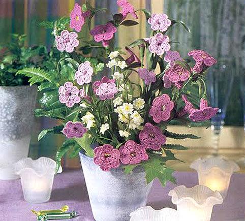 Вязание крючком цветы картинки