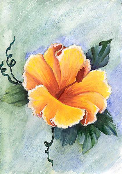 Рисовать красками цветы