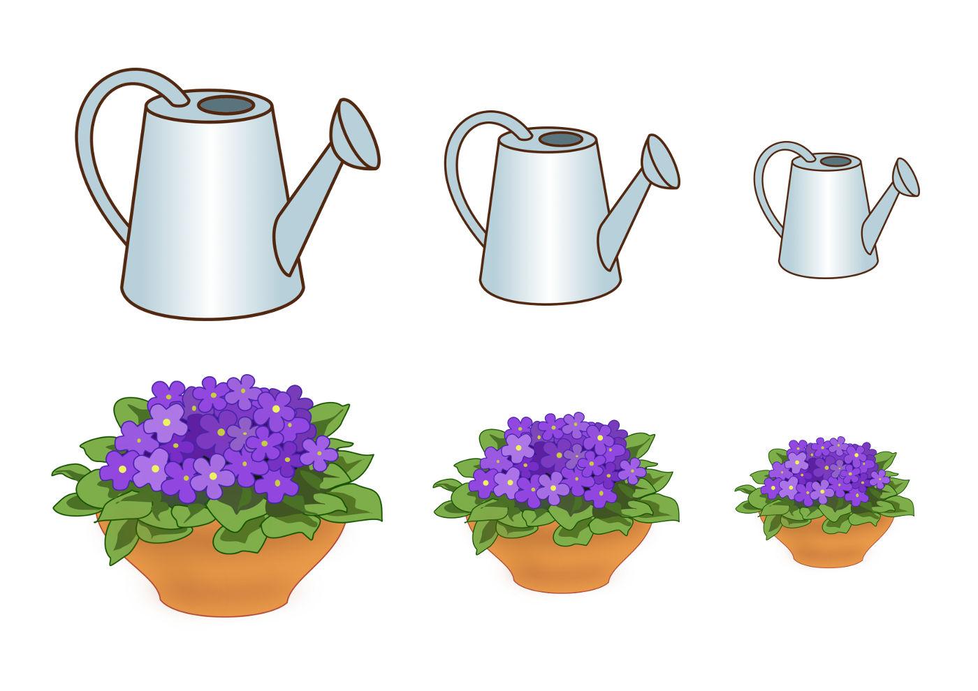 Лейка для цветов с рисунком