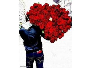 картинки парень с цветами