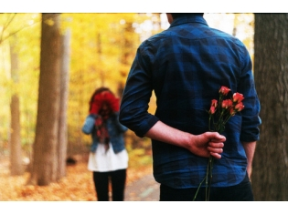Парни с цветами на аву 27