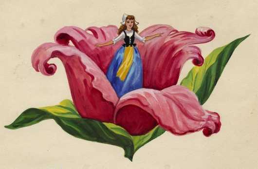 Картинка дюймовочка на цветке