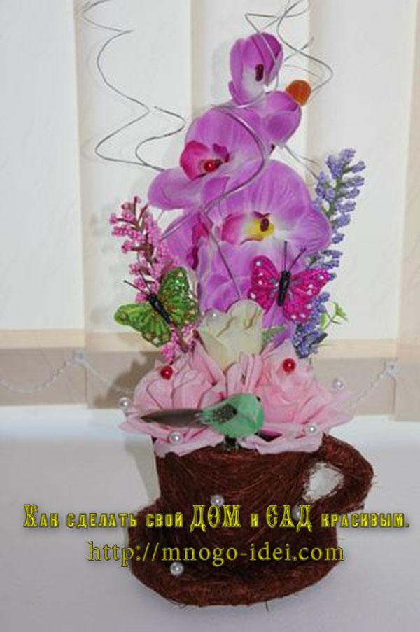 Искусственные цветы своими руками фото 156