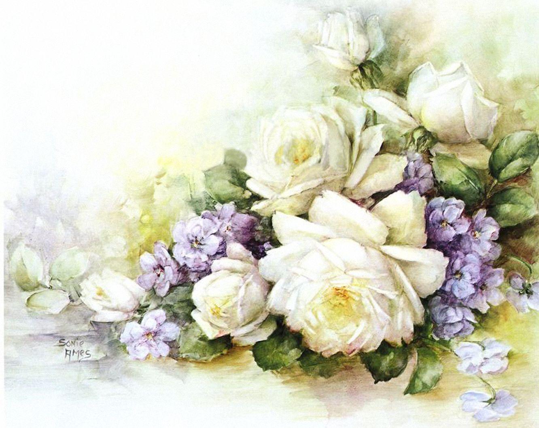 Рисуем открытку с цветами 626