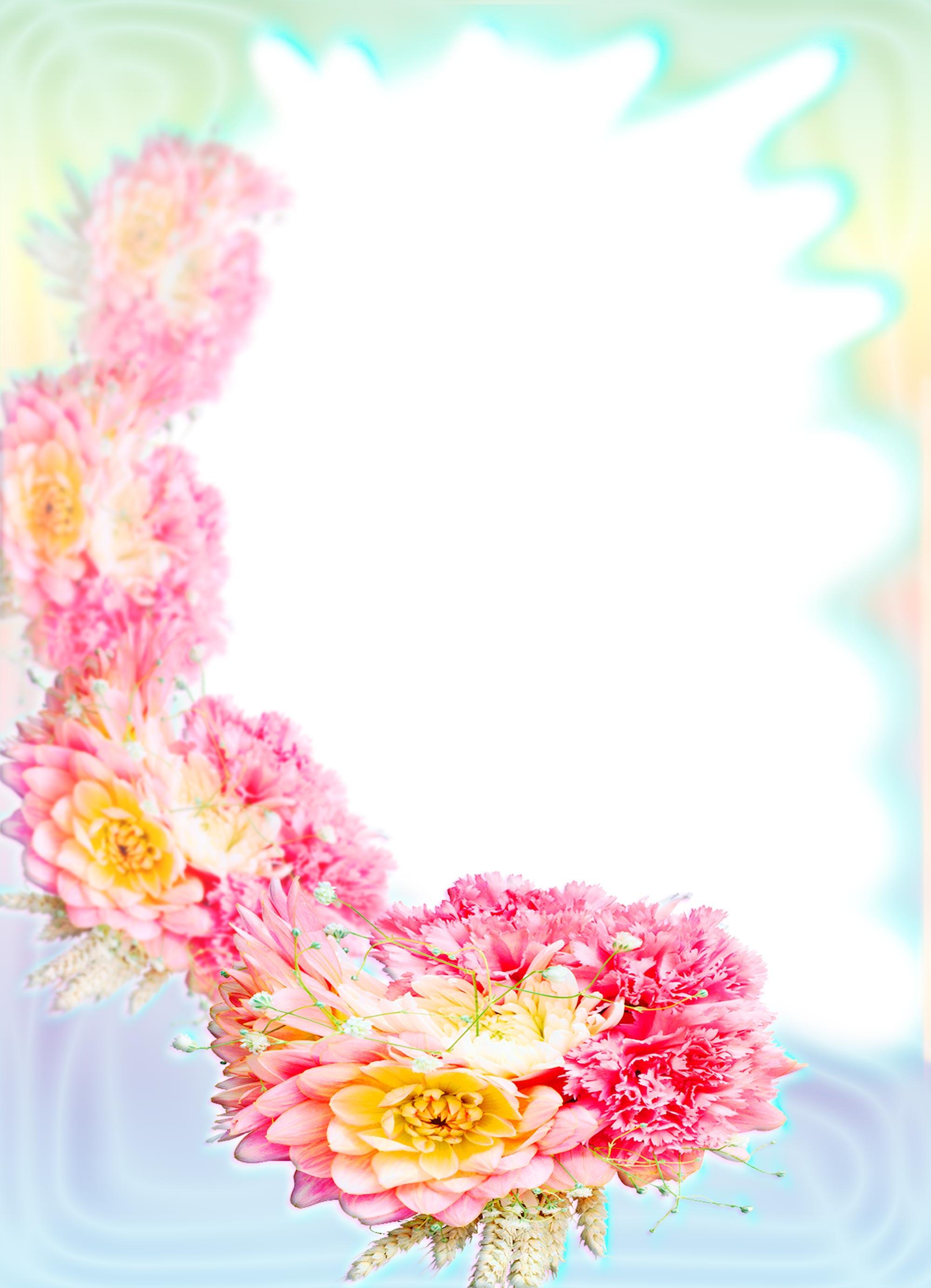 Фото шаблоны для открыток с цветами