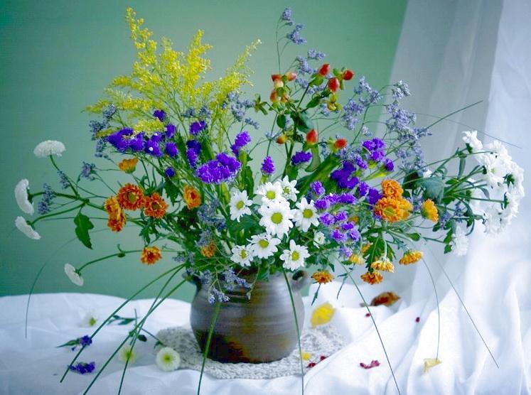 Букет полевые цветы фото