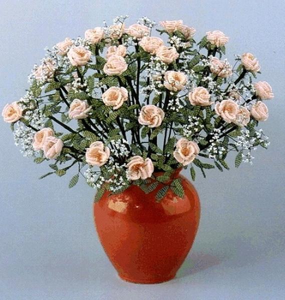 Цветы из бисера схемы фото 4
