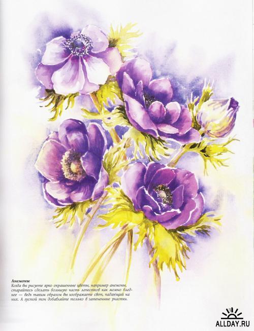 Как нарисовать цветы акварелью