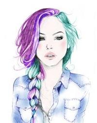 Картинки девочек нарисованные - 2
