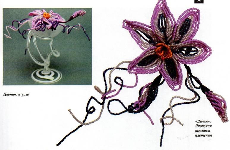 Плетение из бисера цветов фото