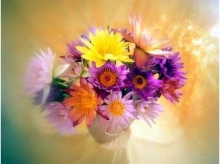 Нежный букет цветов картинки