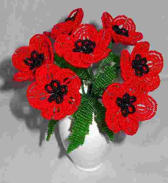 Картинки из бисера цветы 7