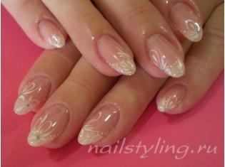 Ногти с акварельными цветами