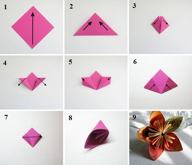 Цветок своими руками оригами
