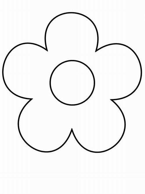 Цветок из расскраски