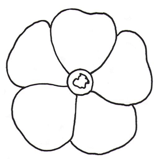 Цветок шаблон картинки 2