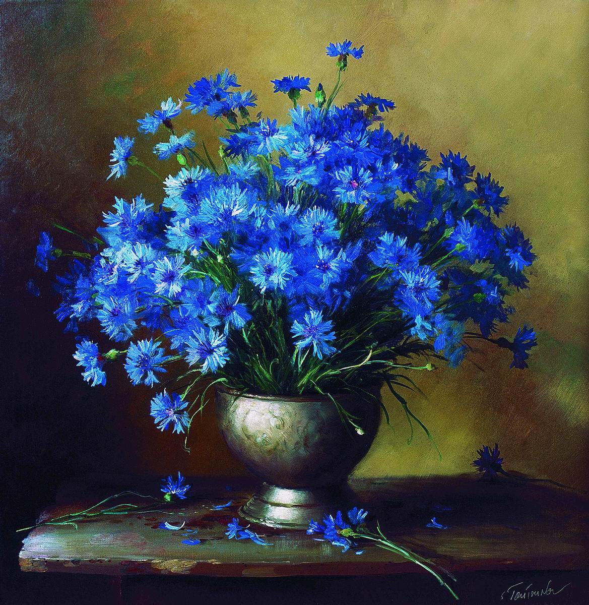 Картинки синие волосы - e0038