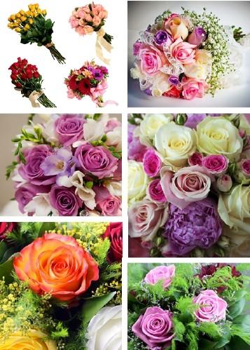 Скачать бесплатно картинки букеты живых цветов 11