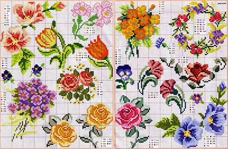 Вышивка цветы фото 10