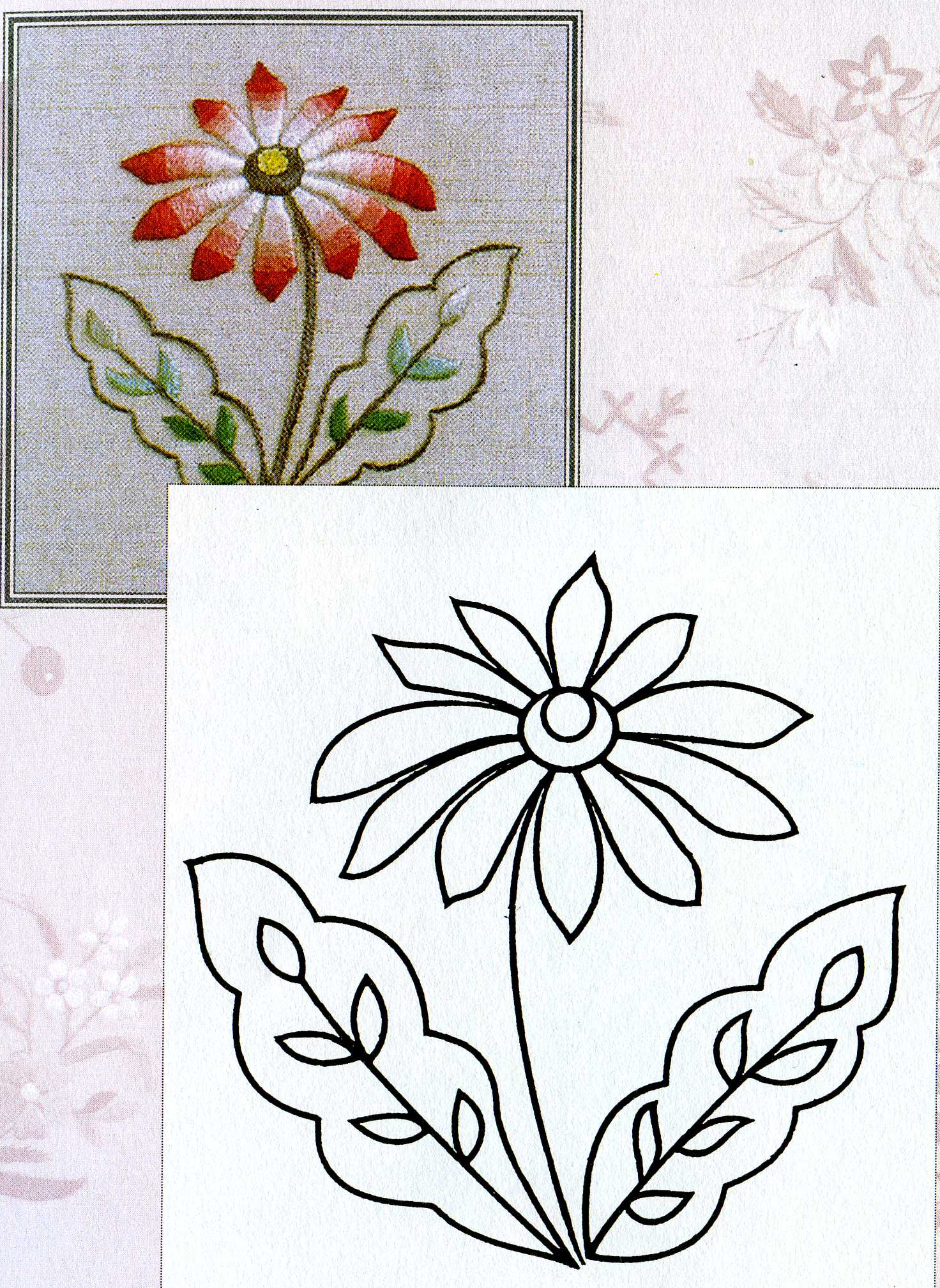 Рисунки вышивок гладью цветов 633