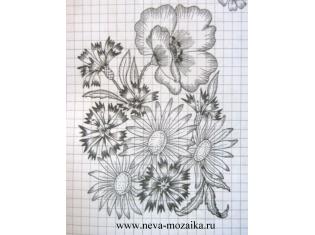 Картинки для вышивки гладью цветы