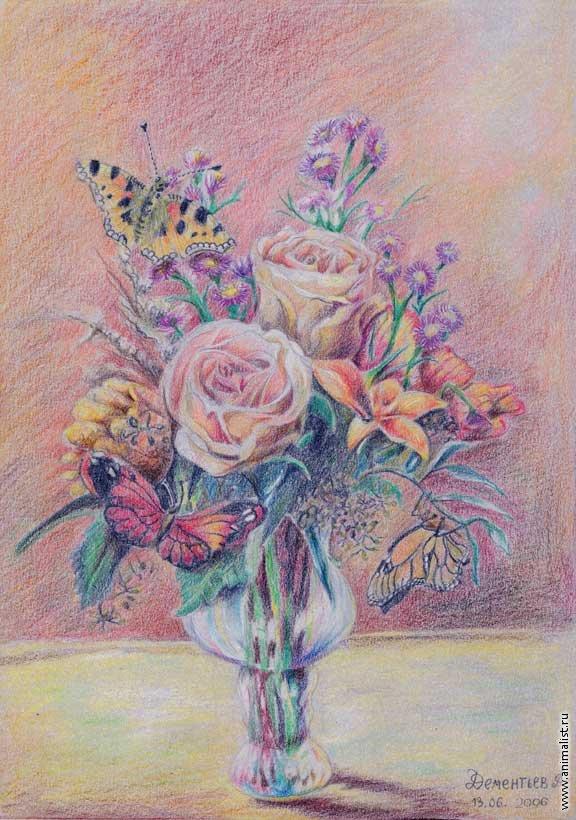sms рисунки цветы: