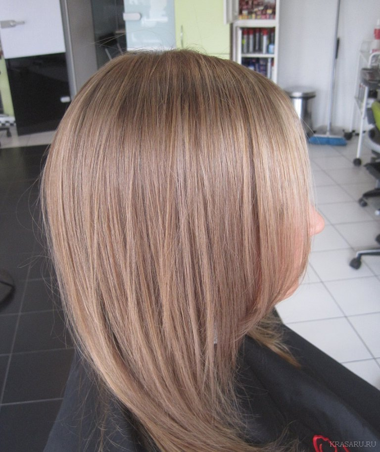 Холодный бежевый цвет волос фото