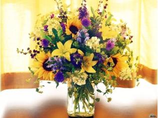 Красивый огромный букет цветов фото