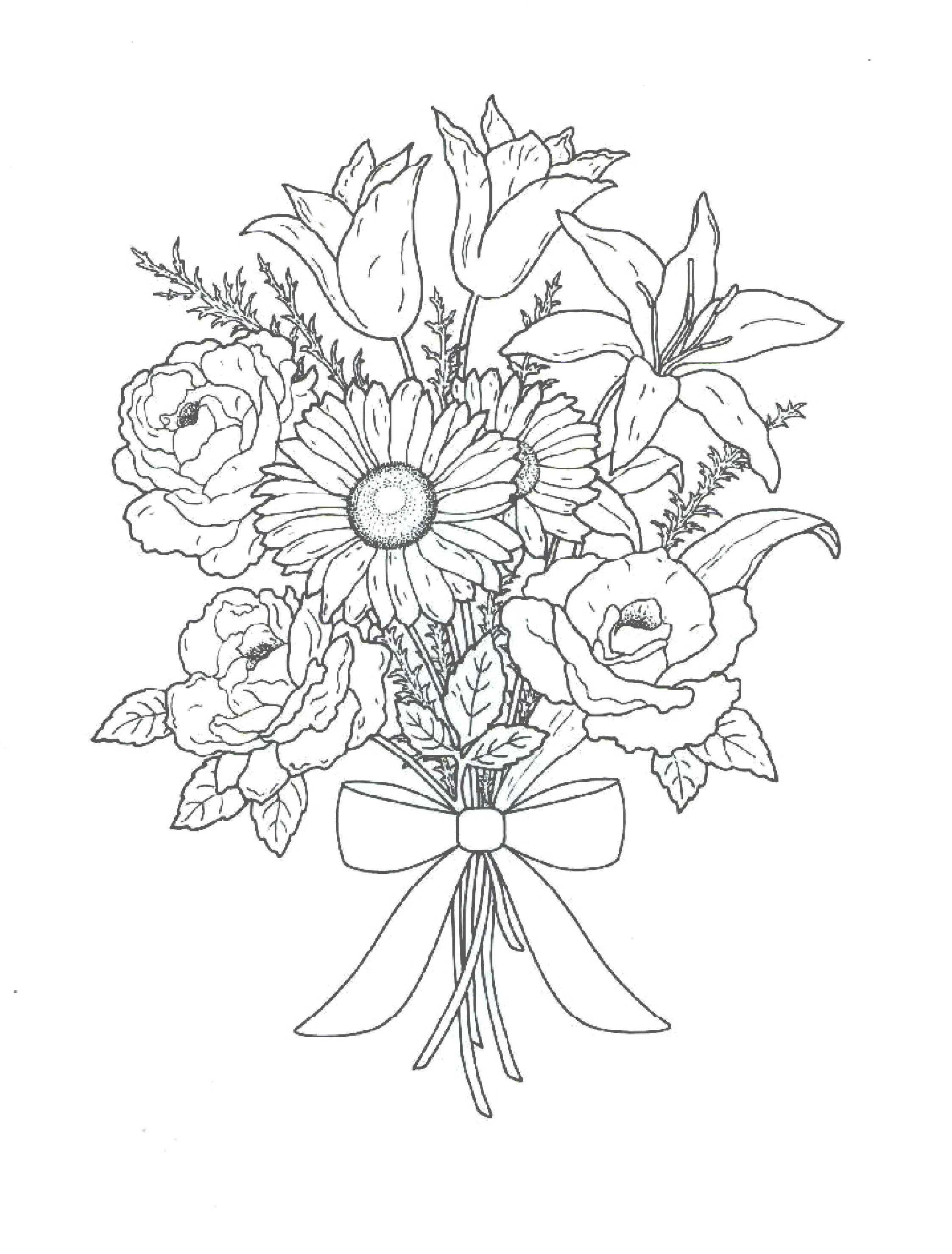 Раскраски цветы картинки красивые
