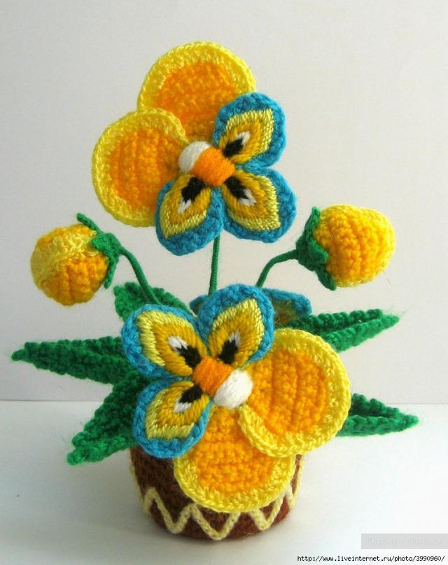 Цветы крючком фото 1