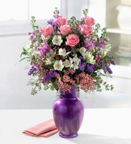 Букет цветов рисунок в вазе