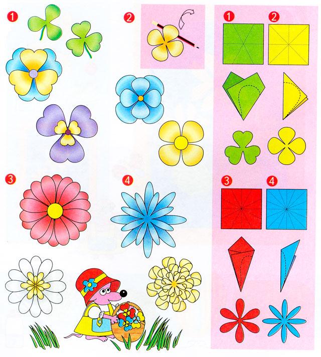 Картинки цветов для поделок