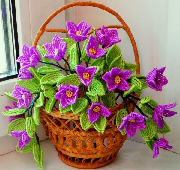 Схемы цветов из бисера фото 1
