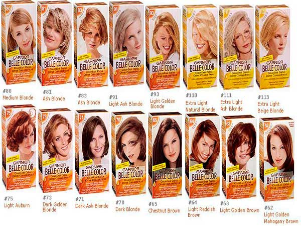 цвета краски для волос гарньер фото