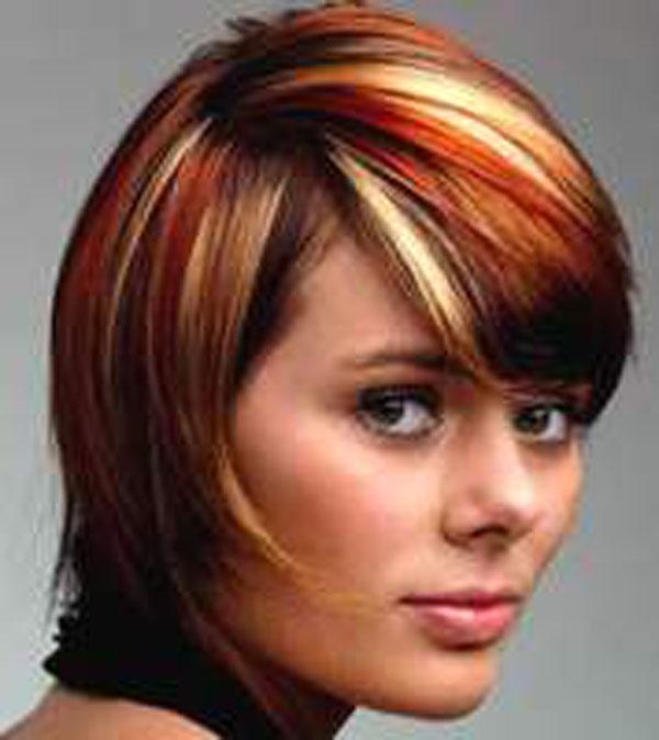 Окрашивание коротких волос в три цвета