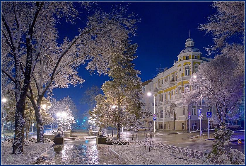 Фото зима в городе самара