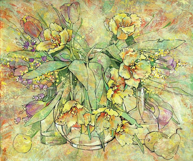 Цветы графика чб 6