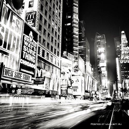 чёрно белые картинки город