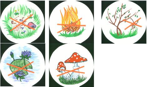 Картинки по теме знаки призывающие охранять природу