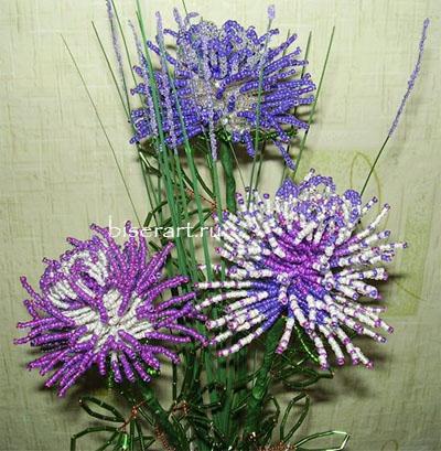 из бисера схемы цветов 7