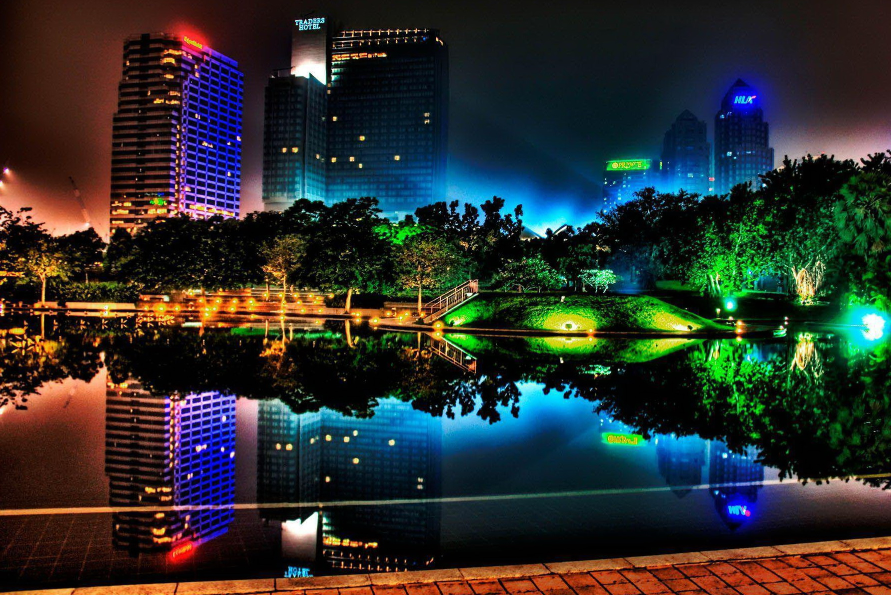Фото обои ночного города