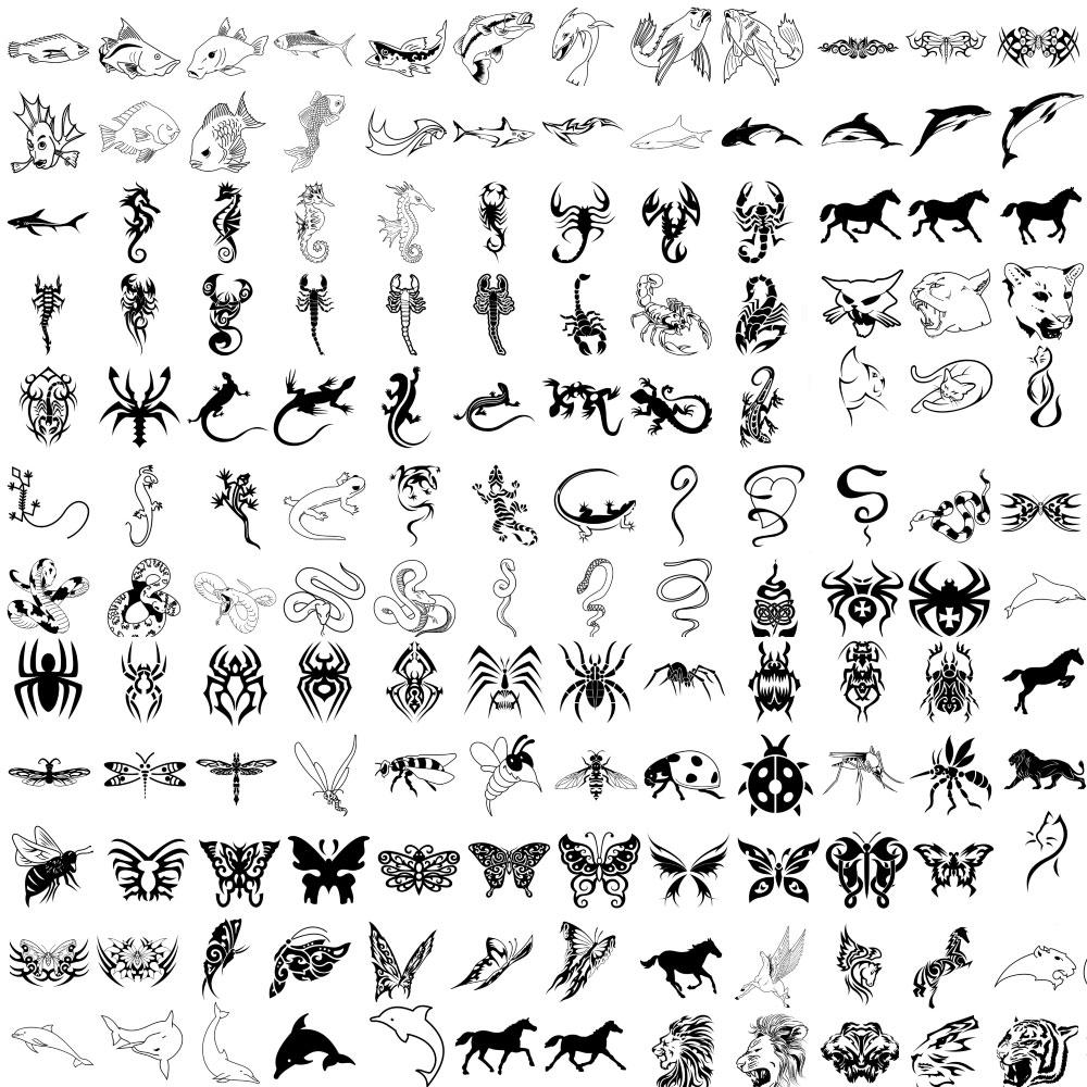 рисунки тату животных