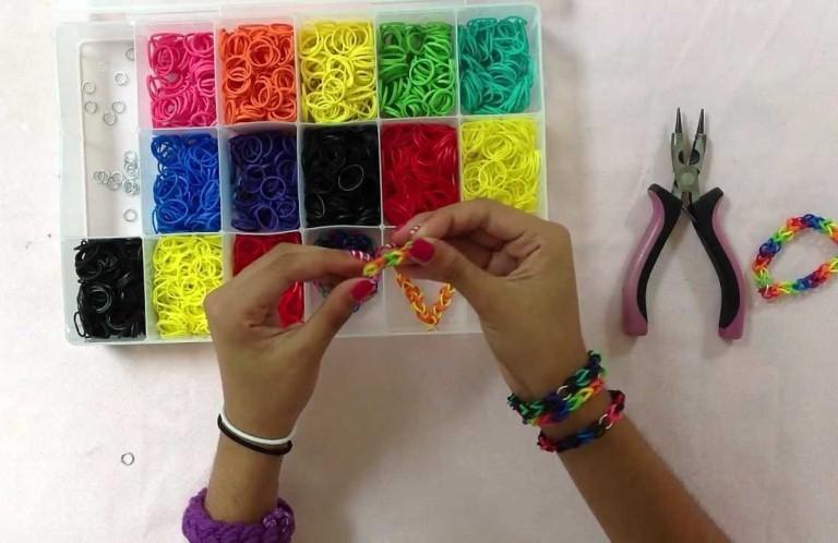 резинок браслет из схемы плетение фото