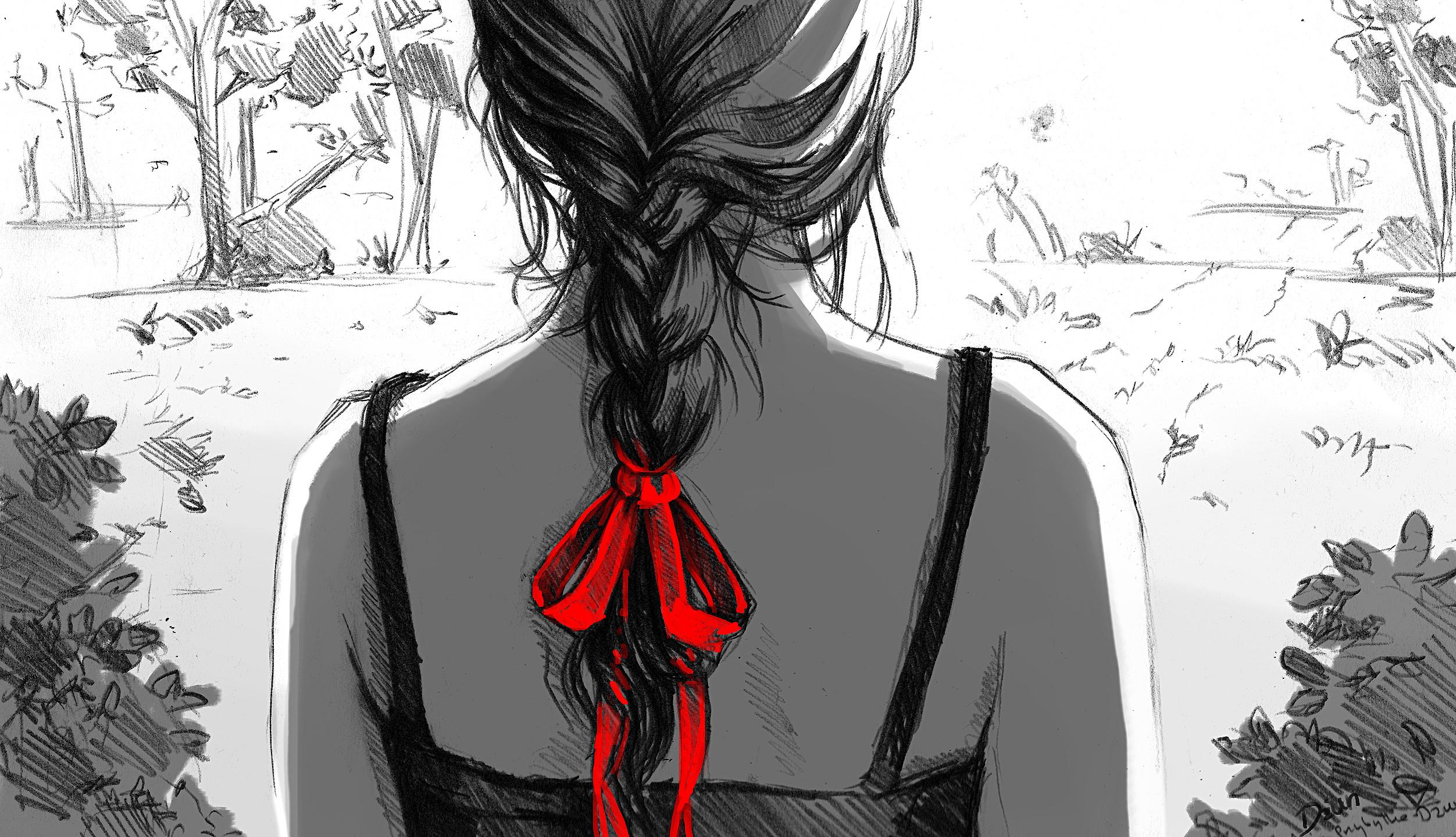Чёрно красные чувак 16 фотография