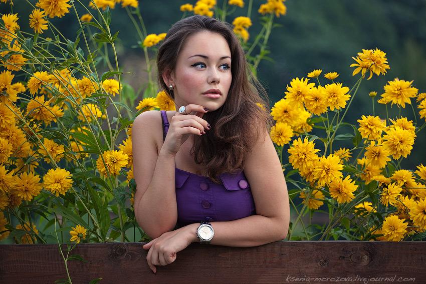 Фото девушек на природе и