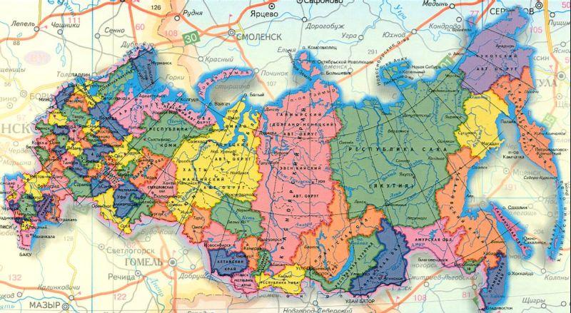 карты автодорог всех обла