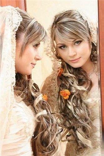 мелированные прически свадебные фото